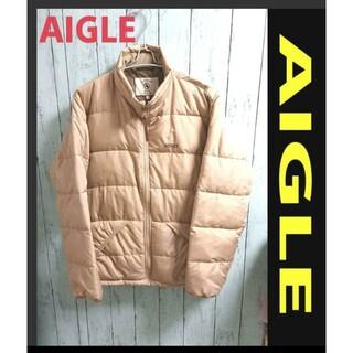 エーグル(AIGLE)のAIGLE エーグル ダウンジャケット アウター ベージュ アースカラー M(ダウンジャケット)