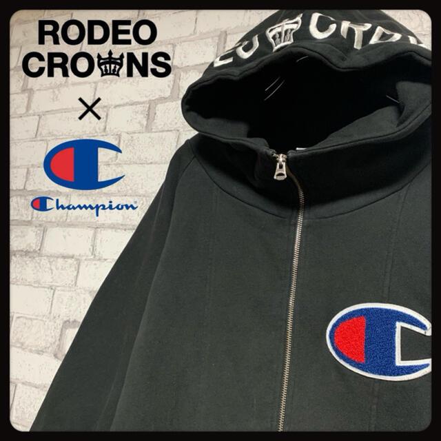 RODEO CROWNS(ロデオクラウンズ)の【ゆうま様専用】RODEO CROWNS × CHAMPION/パーカー  レディースのトップス(パーカー)の商品写真