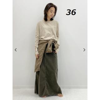 DEUXIEME CLASSE - 【SURT/サート】 コーデュロイ マキシ スカート 36