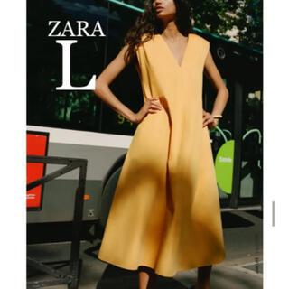 ZARA - 【新品・未使用】ZARA ベルト付き ミディ丈 ワンピース  L