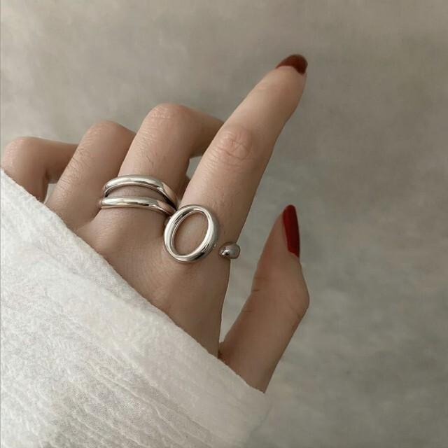 シルバーリング2個セット レディースのアクセサリー(リング(指輪))の商品写真