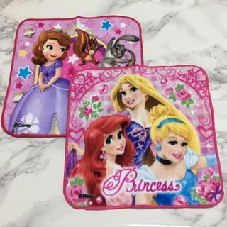 Disney - 即購入OK!新品★ディズニー プリンセス タオルハンカチ 2枚組
