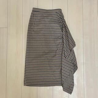 ELENDEEK サイドフリル タイトスカート(ひざ丈スカート)