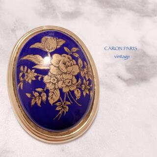 キャロン(CARON)の【CARON PARIS】ディープロイヤルブルー 2way ブローチ 美品(ブローチ/コサージュ)