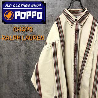 Ralph Lauren - チャップスラルフローレン☆ビッグレトロストライプシャツ 90s