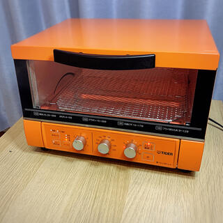 タイガー(TIGER)の美品!Tiger オーブントースター KAE-S130おしゃれインテリアオレンジ(調理機器)
