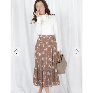 クイーンズコート(QUEENS COURT)のクイーンズコート フラワープリントスカート (ロングスカート)