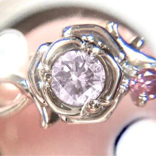 天然 ピンクダイヤモンド FLOP 約0.3ct!! PT900 リング
