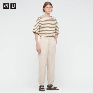 UNIQLO - UNIQLO U ワイドフィットジョガーパンツ オフホワイト L