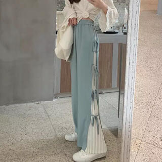 side frill flare pants♡bibiy♡moyumoyu