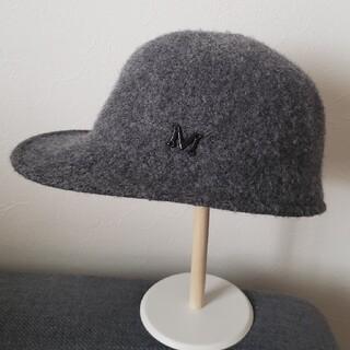 ハット 帽子 キャップ キャスケット グレー 美品