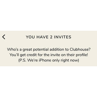 clubhouse招待枠