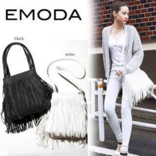 EMODA - EMODA エモダ フリンジバッグ 2way ショルダー