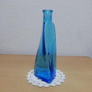 花瓶 一輪挿し フラワーベース ブルー