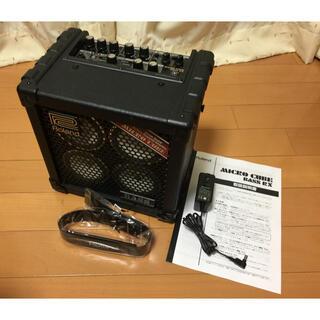 ローランド(Roland)のローランド MICRO CUBE BASS RX 社外ACアダプタ付 送料込み(ベースアンプ)