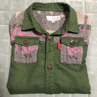 チチカカ(titicaca)のチチカカ キッズ カーキ 羽織 デニムシャツ 110(ジャケット/上着)
