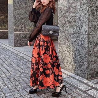 eimy istoire - 新品 エイミーイストワール Julia flower タックフレア スカート