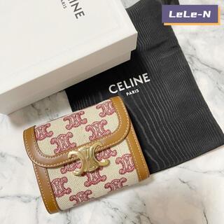 celine - CELINE<新品レシート付き> トリオンフ テキスタイル財布