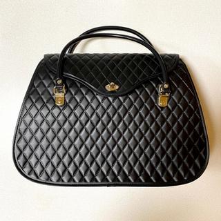 コムデギャルソン(COMME des GARCONS)の極美品 コムデギャルソン キルティング ハンドバッグ 台形(ハンドバッグ)
