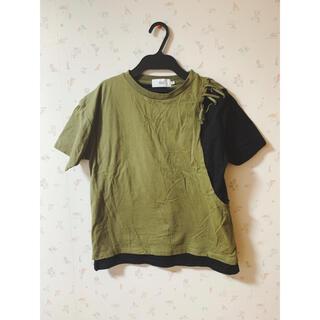 アズールバイマウジー(AZUL by moussy)の【AZULbymoussy】Tシャツカットソー(Tシャツ(半袖/袖なし))