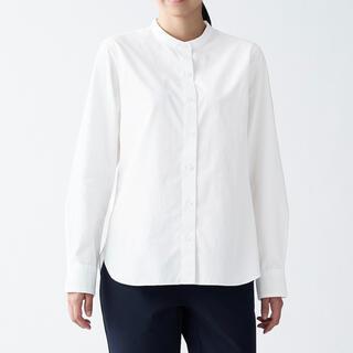 MUJI (無印良品) - 【半額】 無印良品 ノーカラーシャツ シャツ ワイシャツ レディース