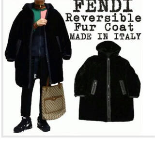 フェンディ(FENDI)のFENDI リバーシブル コート ヴィンテージ 男女兼用(ロングコート)