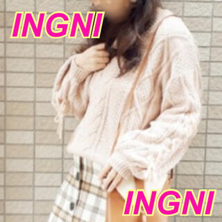 INGNI - 【新品タグ付】INGNI★レースアップ★モールニット★リエンダ*リゼクシー