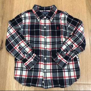 ジムフレックス(GYMPHLEX)のジムフレックス キッズ ボタンダウン ネルシャツ 110(ブラウス)