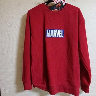 マーベル(MARVEL)の新品 赤 marvel スパイダーマン フリース トレーナー メンズ 刺繍(スウェット)