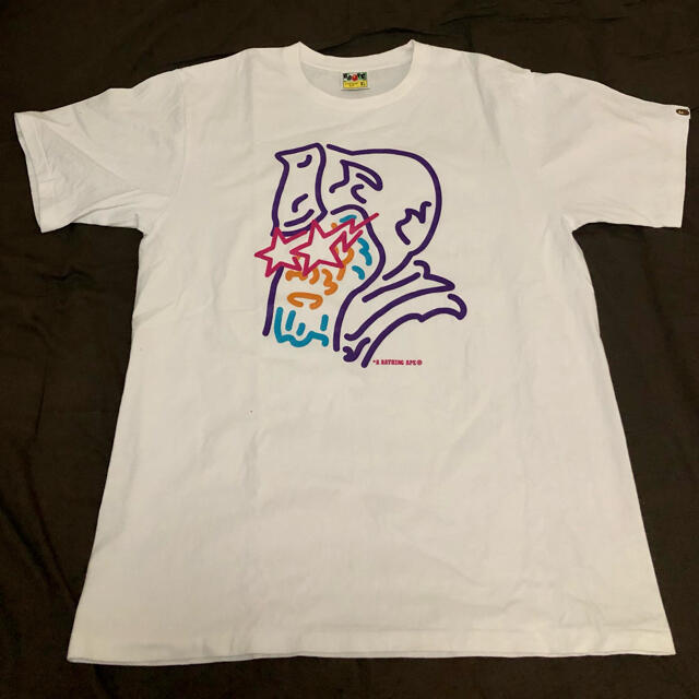 A BATHING APE(アベイシングエイプ)の値下げ!BAPE Tシャツ XL 美品 メンズのトップス(Tシャツ/カットソー(半袖/袖なし))の商品写真