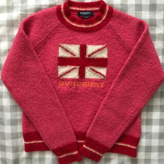 BURBERRY - バーバリー キッズ ラメ入り糸 ピンク ニット セーター 140A