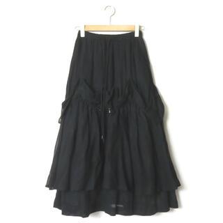 ENFOLD - ENFOLD 20AW シア―コットン ドローストリングティアードスカート
