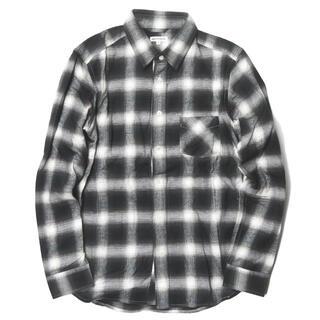 アバハウス(ABAHOUSE)のABAHOUSE ピーチ起毛オンブレーチェックシャツ 長袖シャツ メンズ(シャツ)