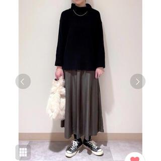 レプシィム(LEPSIM)の【完売カラー‼️】LEPSlM サテンフレアスカート(ロングスカート)