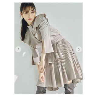 スナイデル(snidel)のsnidel プリーツフレアミニスカート(ひざ丈スカート)