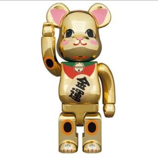 メディコムトイ(MEDICOM TOY)の送込 BE@RBRICK 招き猫 金運 金メッキ 弐 400%(その他)