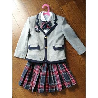 入学式 フォーマルスーツ 女の子 110 チェック(ドレス/フォーマル)