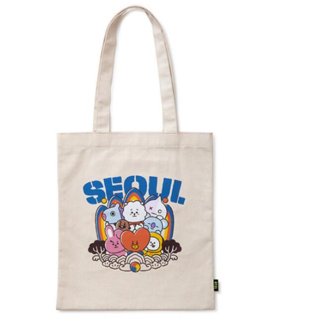 防弾少年団(BTS)(ボウダンショウネンダン)のbt21 Soul ソウル 韓国限定 エコバッグ トートバッグ エンタメ/ホビーのタレントグッズ(アイドルグッズ)の商品写真