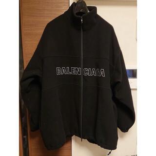 バレンシアガ(Balenciaga)のバレンシアガ  ロゴ フリースジャケット オーバーサイズ(ブルゾン)
