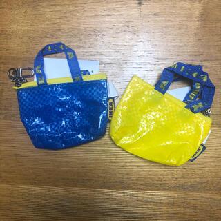 イケア(IKEA)の【IKEA クノーリグ】イエロー&ブルー/キーホルダー イケア 2個セット(キーホルダー)