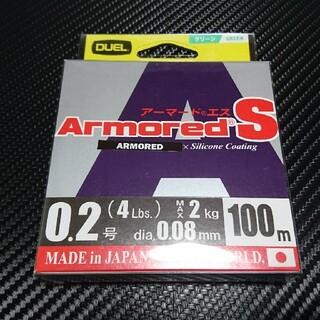 【残1】デュエル アーマードS PEライン 0.2号 100m グリーン(釣り糸/ライン)
