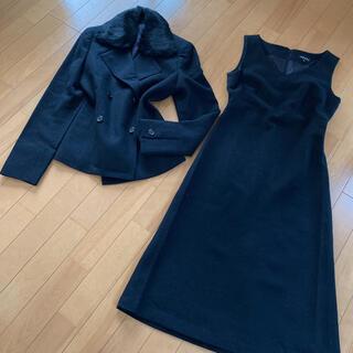 ANAYI - アナイ セットアップ 高級 スーツ 黒 セレモニー ワンピース 美品 卒業式