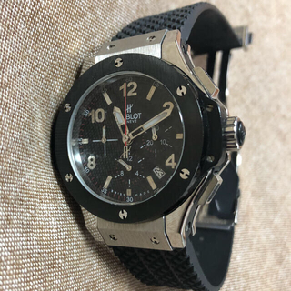 美品 ラバーバンド腕時計 クロノグラフ オマージュ腕時計
