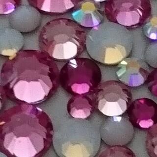 スワロフスキー(SWAROVSKI)のスワロフスキー正規品 ピンクmix ss5/7/9/12/16  100粒(デコパーツ)