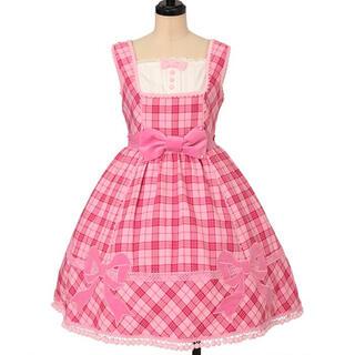Angelic Pretty - メルヘンタータンリボンジャンパースカート ピンク