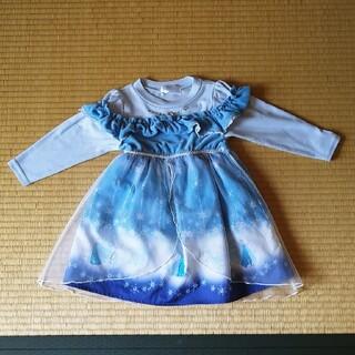 アナトユキノジョオウ(アナと雪の女王)のアナ雪ドレス100(ワンピース)