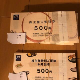 大戸屋 株主優待 22枚 11000えん分