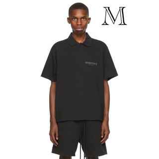 フィアオブゴッド(FEAR OF GOD)のEssentials Black POLO T-SHIRT M(ポロシャツ)