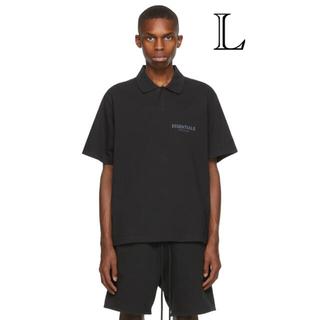 フィアオブゴッド(FEAR OF GOD)のEssentials Black POLO T-SHIRT L(ポロシャツ)