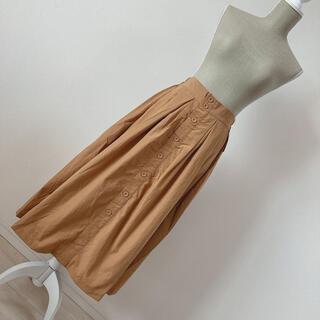 アントマリーズ(Aunt Marie's)の新品未使用 マリーヒル フロントリボンスカート ベージュ(ロングスカート)